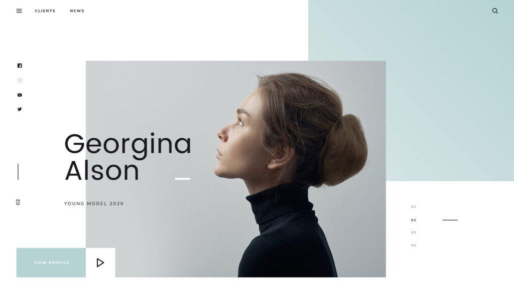 Model Agency Web Design